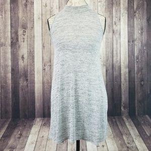 Forever 21 gray heathered high neck mini dress